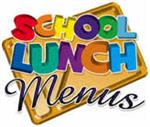 Image of School Lunch Menus Text