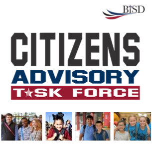 Citizens Advisory Task Force logo with pictures of students