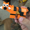 Tiger made out of legos
